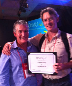 My client won a DEMO God award! Schedulicity @ Demo Fall this week in Santa Clara.